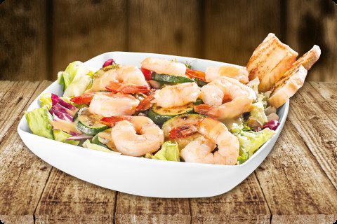 Sea salad with prawns
