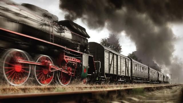 Lokomotywa Oi 49 Ciągnąca Pociąg