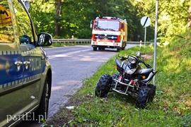 niezawodna jakość uznane marki buty sportowe Wypadek quada na drodze do Kadyn, kierowca był nietrzeźwy ...